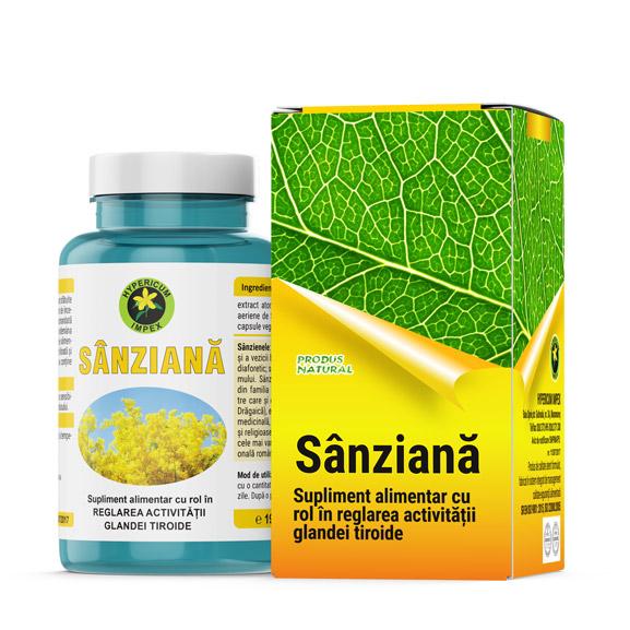 Capsule Sanziana - Vitamine si Suplimente Naturale - Produs Hypericum Impex
