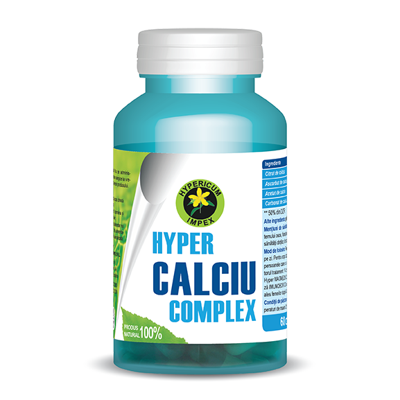 Capsule Hyper Calciu Complex - Vitamine si Suplimente Naturale - Hypericum Impex