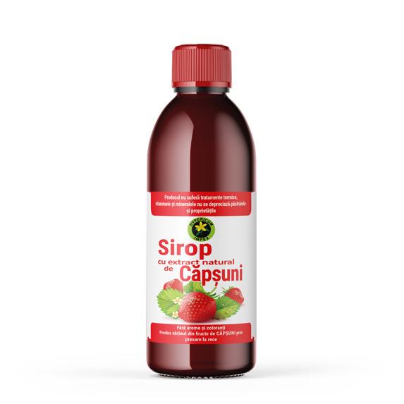Sirop de capsuni cu zahar 500 ml - Siropuri si Sucuri Naturale - Produs Hypericum Impex (2)