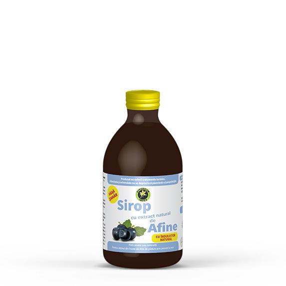 Sirop de Afin cu indulcitor Stevia Rebaudiana - Siropuri si Sucuri Naturale - Produs Hypericum Impex