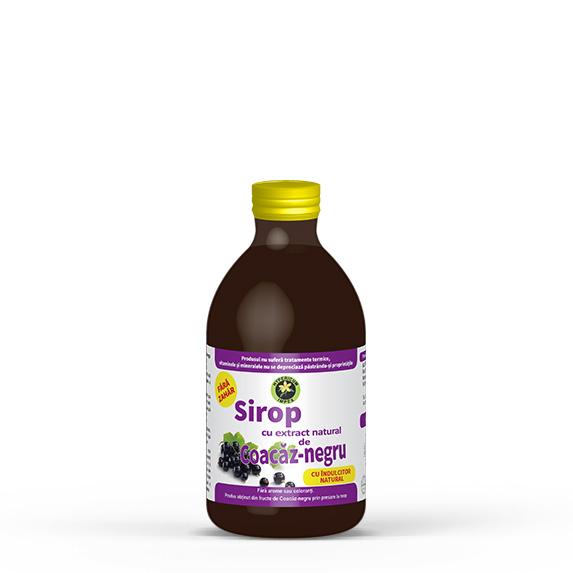 Sirop de Coacaz-negru cu indulcitor Stevia rebaudiana - Siropuri si Sucuri Naturale - Produs Hypericum Impex