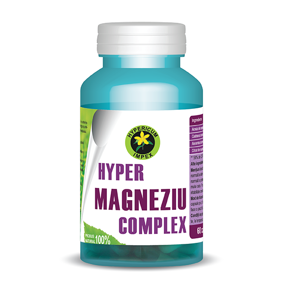 Capsule Hyper Magneziu Complex - Vitamine si Suplimente - Hypericum Impex