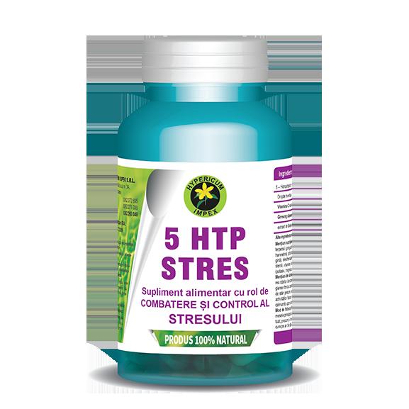 Capsule 5 HTP Stres - Sulpimente Alimentare 100% Naturale produse de Hypericum Impex Baia Sprie