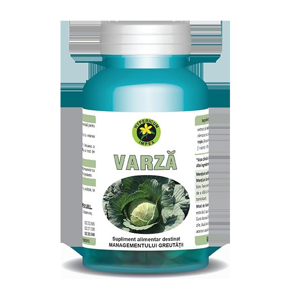 Capsule Varza - Vitamine si Suplimente Naturale - Hypericum Impex