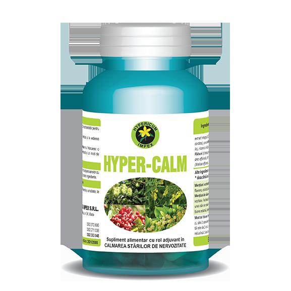 Capsule Hyper Calm - Vitamine si Suplimente - Hypericum Impex
