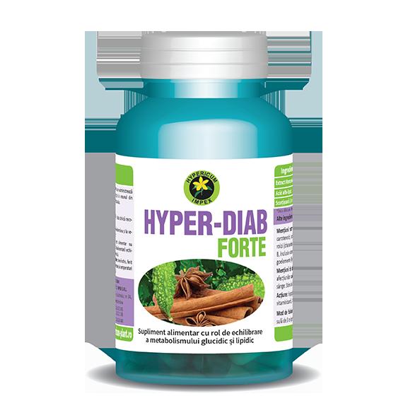 Capsule Hyper Diab Forte - Vitamine si Suplimente - Hypericum Impex