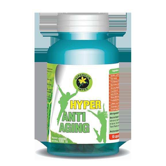 Capsule Hyper Anti Aging - Vitamine si Suplimente - Hypericu -Impex