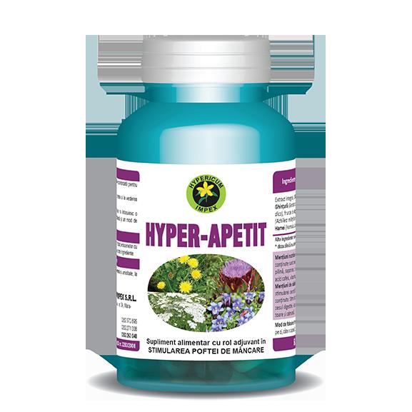 Capsule Hyper Apetit - Vitamine si Suplimente - Hypericum Impex