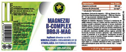 Magneziu B-Complex Droji Mag 60 comprimate