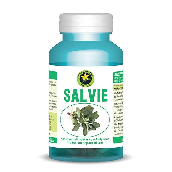Capsule Salvie - Vitamine si Suplimente din plante Medicinale - Produs Hypericum Impex