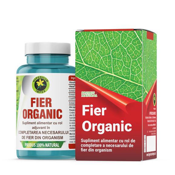 Capsule Fier Organic - Vitamine si Minerale Produs Hypericum Impex