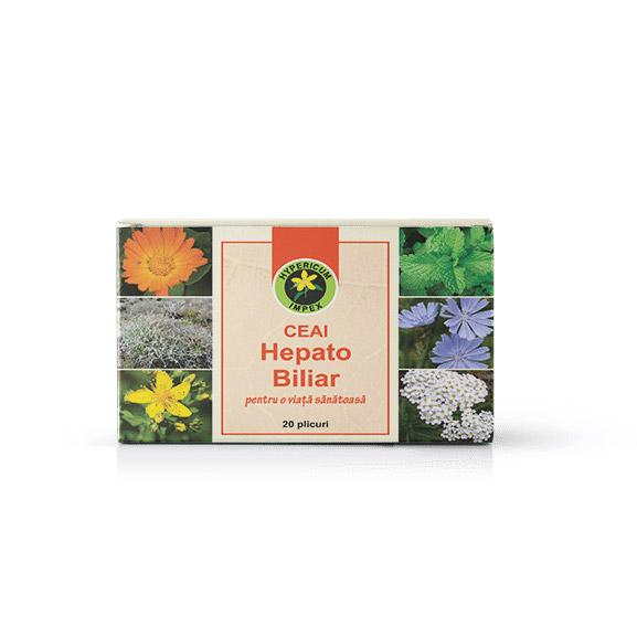 Ceai Hepato Biliar doze - Ceai medicinal Hepato Biliar - Ceai Hypericum Impex
