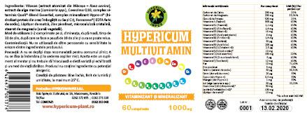 hypericum multivitamin comprimate