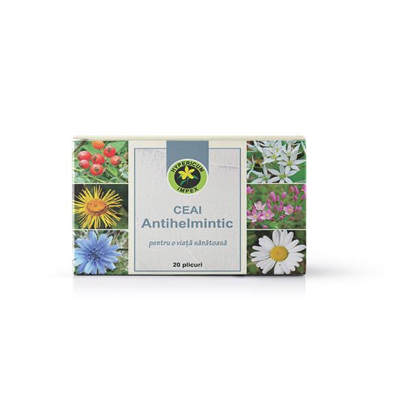 Ceai Antihelmitic doze - Ceai medicinal Antihelmintic - Ceai Hypericum Impex