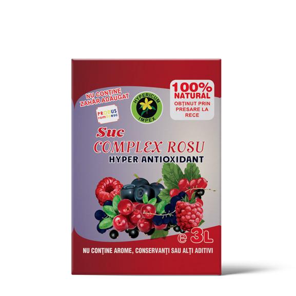 Suc Complex Rosu Hyperantioxidant - Bag-in Box 3L - Siropuri si Sucuri Naturale - Hypericum Impex