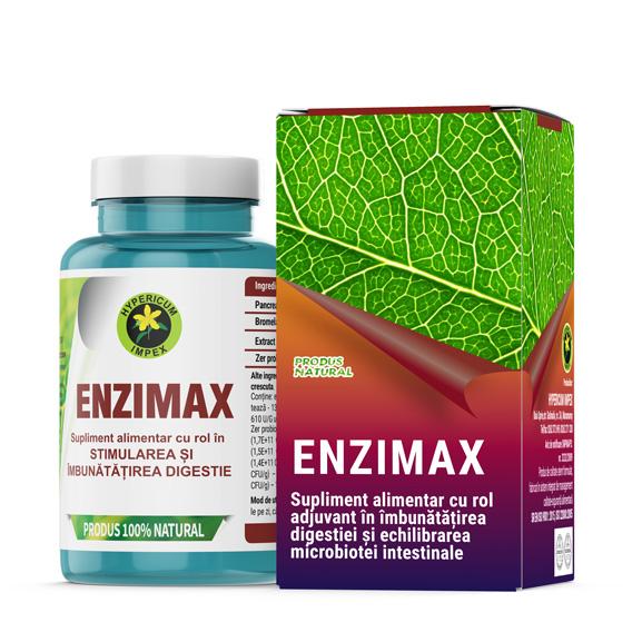 Capsule Enzimax - Vitamine si Suplimente Naturale - Produs Hypericum Impex