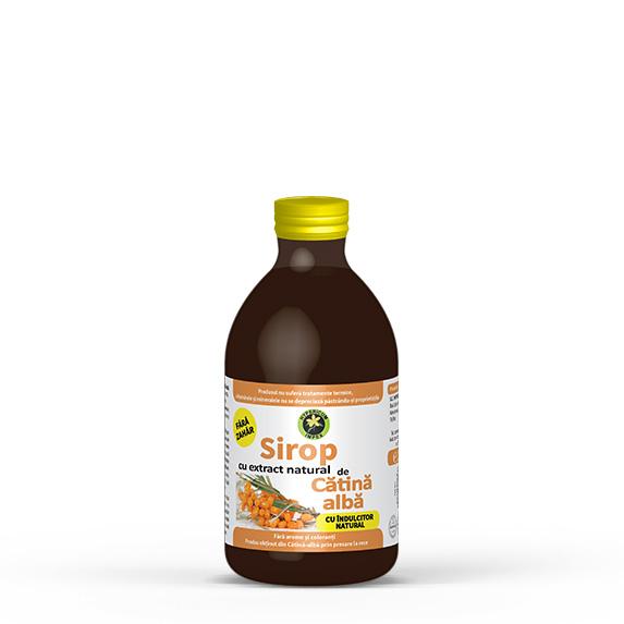 Sirop Catina alba fara zahar cu indulcitor natural Stevia Rebaudiana 250 ml