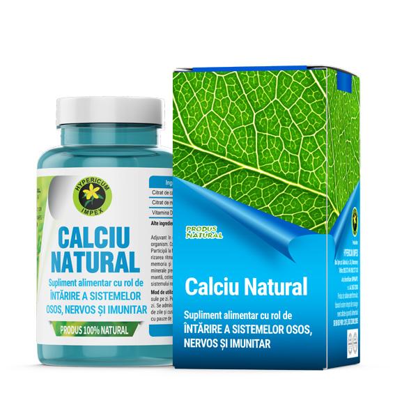Capsule Calciu Natural - Vitamine si Suplimente Naturale - Produs Hypericum Impex